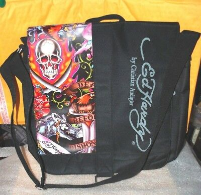 ED HARDY MESSENGER Tote Bag by Christian Audigier New -  9.99  10b4f86a83b01