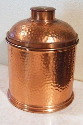 """Vintage Revere ROME NY Hammered Copper Humidor Approx. 7 1/2"""" Tall"""