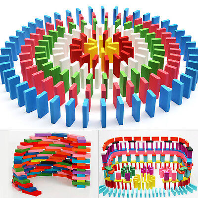 100pcs Wooden Tumbling Dominoes Games For Kids Childrens Fun Play Toy NEW