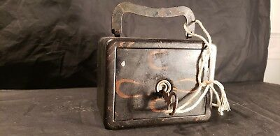 antique safe STRONGBOX lock with key