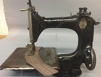 Rare Antique Industrial singer 24-? Sewing Machine 2 Needle 2 Thread Adjustable