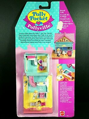 *NEW* POLLY POCKET Beach Cafe 1993 Vintage Bluebird Complete BNIP Collectible