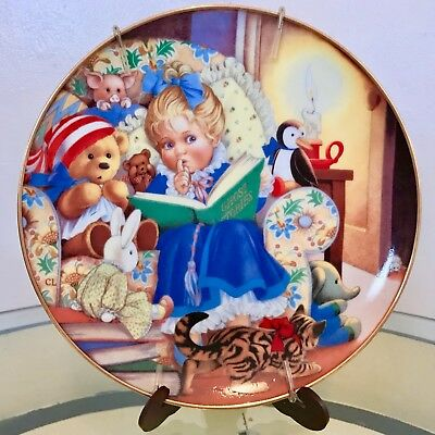 """1989 Japan Franklin Mint Carol Lawson """"Ghost Stories"""" Collector Plate"""