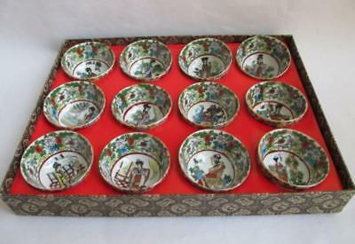 Chinese classic a dream of red mansions glaze bowls tea set 12 characters b01