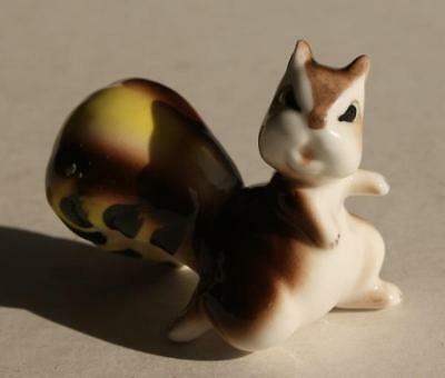 Squirrel Figurine Bone China Miniature Hand Painted Awesome-Adorable-Vintage