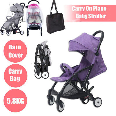 Foldable Lightweight Baby Stroller Compact Pram Travel Carry Pushchair Raincover