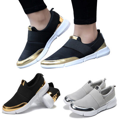 Women's Mesh Casual Loafers Breathable Flat Shoes Soft Running Shoes Gym Shoes