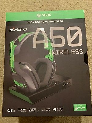 ASTRO A50 Wireless Headset and Base Station for Xbox One With Leather Ear Cups