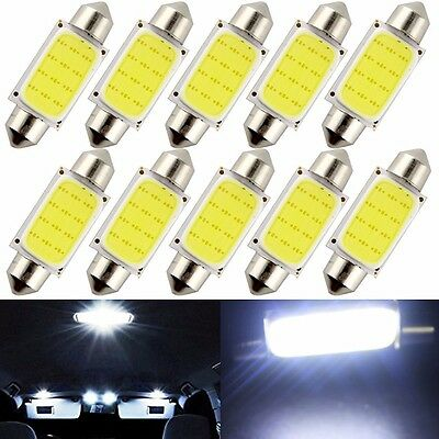 50X 24V 41mm Festoon COB led Car Licence Plate Dome Reading Map Door Light Bulb
