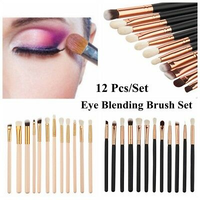 12X  Pro Eye Shadow Eyebrow Blending Brush Set Eye Makeup Brushes 2019