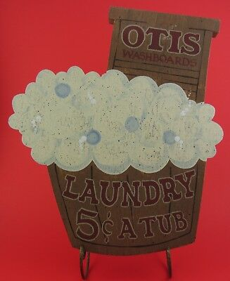 OTIS WASHBOARDS Laundry Room Decor Plaque LAUNDRY 5 CENTS A TUB Handcrafted Wood