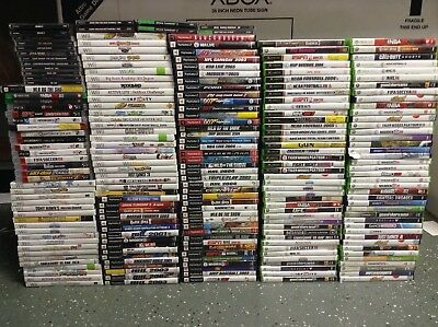 Huge Lot Of 210 Video Games! Nintendo Wii Xbox 360 Playstion 1 2 3 PS2 PS3 PS1