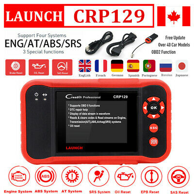 Launch X431 CRP129 OBD2Diagnostic Code Reader ENG/AT/ABS/SRS EPB SAS OIL Service