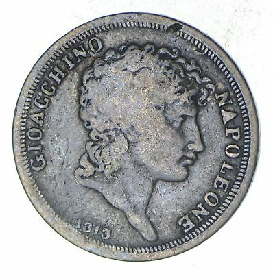 1813 Italian States Naples 1 Lira - Historic World Coin *672