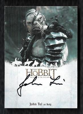 2016 The Hobbit The Battle of the Five Armies Autograph JOHN TUI as Bolg