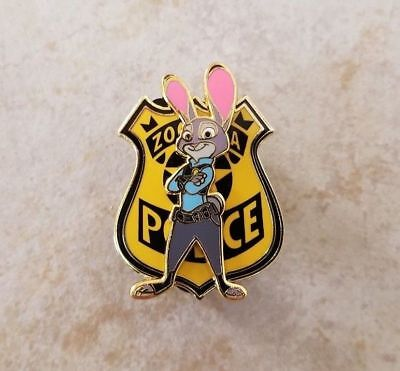 Pin Trading Disney Pins Zootopia Movie Officer Judy Hopps Police Badge 3D