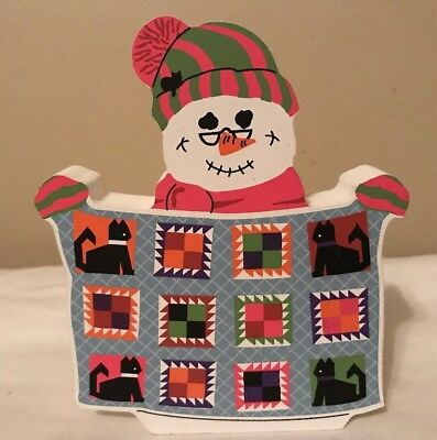 The Cats Meow Village Snowman Collection Quilting Faline 2000