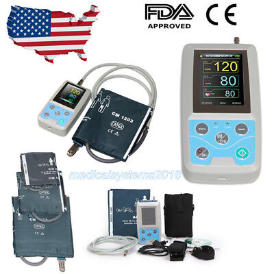 24h NIBP Holter Ambulatory Blood Pressure Monitor ABPM50,PC Software,three Cuffs