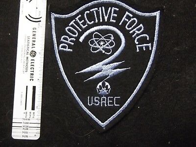 Federal DOE Energy Atomic Energy Comm Defunct Vintage Police patch 1950s rare