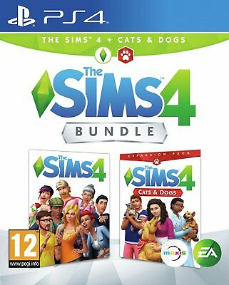 The Sims 4 with Cats & Dogs Bundle Sony Playstation PS4 Game 12+ Years