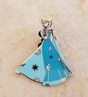 Pin Trading Disney Pins Frozen Movie Elsa Wearing Blue Dress with Snowflakes