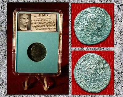 Ancient Roman Empire Coin LICINIUS I Standing Jupiter Holding Victory On Globe