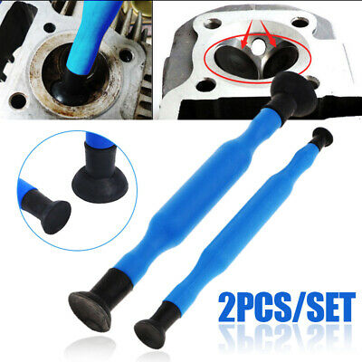 2pcs Blue Valve Lapping Grinding Sticks Valve lapper tool with Suction Cups kit