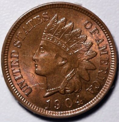 1904 INDIAN HEAD CENT - BU UNC Details - With CARTWHEELING MINT LUSTER!