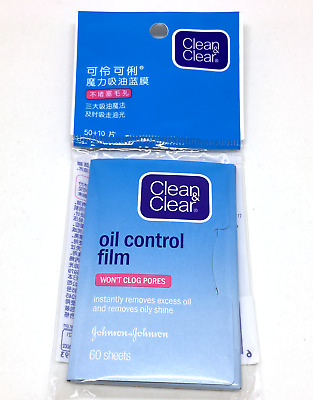 4x Clean & Clear Oil Control absorbing Sheets for Face, 60 Sheets (Pack of 4)