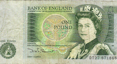 1 Pound Bank Of England Banknote