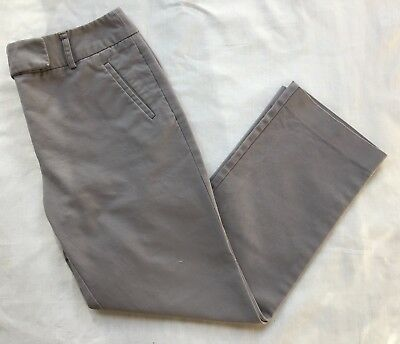 Women's Charter Club Gray Mid-Rise Slim It Up Crop Ankle Pants 6 Petite Casual