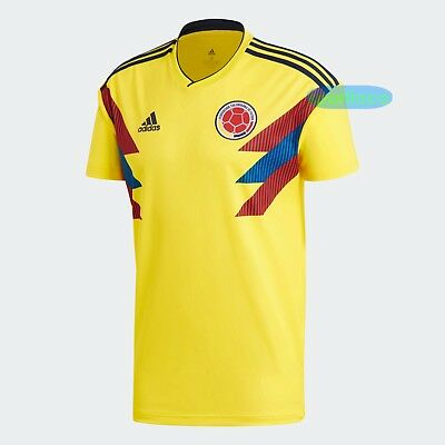 860c8e65ea0 adidas Colombia National Team World Cup 2018 HOME Jersey Soccer Original  CW1526