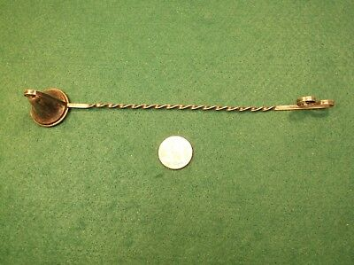 #2 of 2, VTG ANTIQUE VICTORIAN ERA? STERLING SILVER CANDLE SNUFFER, BARLEY TWIST
