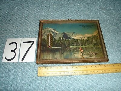Old First National Bank And Trust Milford De Delaware  Advertising Thermometer