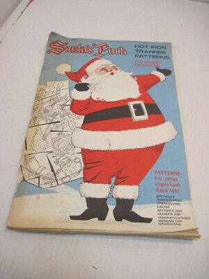 Vintage Santa's Pack Hot Iron Transfer Patterns Holiday Deco All Occasions