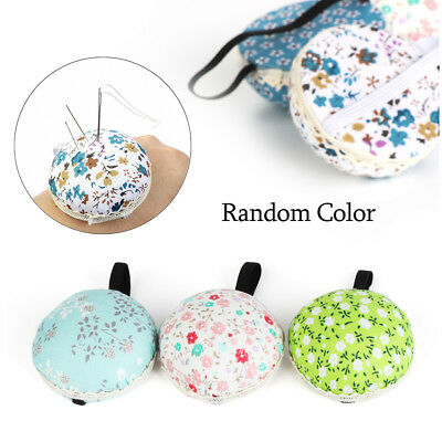 Storage Tool Home Supplies Sewing Pin Cushion Needle Holder Floral Wrist Strap