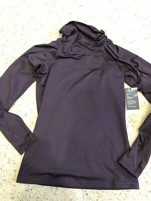 NWT Nike Dri Fit Womens Long Sleeve Funnel Neck Athletic Top Size Large