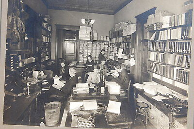 1910 era Cabinet Photo North Dakota State Botanist & Seed Comissionner Office!!!