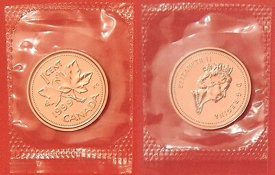 Proof Like 1999 Canada 1 Cent Sealed in Cello