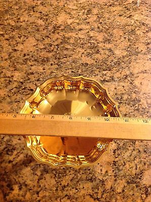 Gold Tone Candy Nut Dish, clean