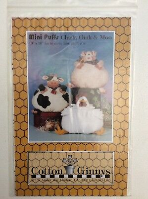 Cloth Doll Sewing Pattern 'Mini Puffs' by Cotton Ginny