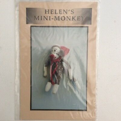 Cloth Doll Sewing Pattern 'Helens Mini Monkey' by Helen Dodge