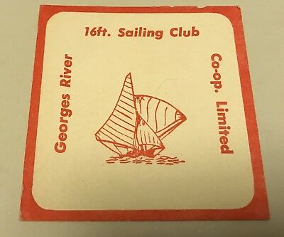 Georges River 16ft Sailing Club Vintage Retro Drinks Coaster X 1