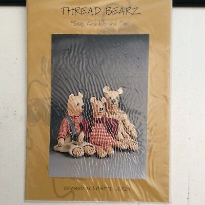 Bear Sewing Pattern 'Snap, Crackle and Pop' by Lynette Leroy