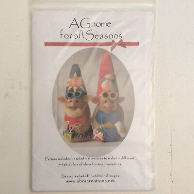 Super Cute Cloth Doll Sewing Pattern 'A Gnome For All Seasons' by Shelley Hawkey