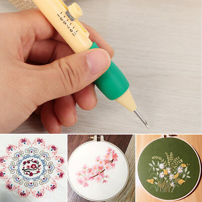 Punch Craft Sewing Tool Magic Threaders Needles Plastic DIY Embroidery Pen Set