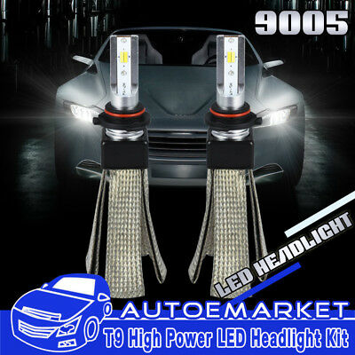 T9 Car LED Headlight Bulbs 9005 H10 Conversion Kit Copper Heat 3000K,4500K,6000K