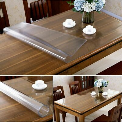 PicClick UK & STRONG CLEAR PLASTIC Table Cloth Cover Wipeable Pvc Waterproof Table Protector