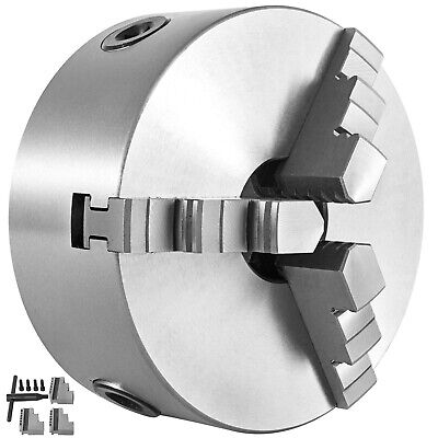 Lathe Chuck K11-80 80mm 3 Jaw Reversible Cast Iron Two-Piece Jaws Adjustment