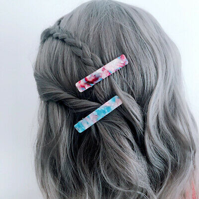 2PCS Fashion Women's Crystal Hair Clips Pins Claws Barrettes Accessories Hairpin